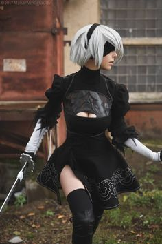 Have some amazing Nier Automata cosplay - COSPLAY IS BAEEE!!! Tap the pin now to grab yourself some BAE Cosplay leggings and shirts! From super hero fitness leggings, super hero fitness shirts, and so much more that wil make you say YASSS!!!
