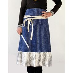 Apron - Abacus, in Inky Blue, $42.30 - I think (minus the tie) this sort of design would make a great skirt, I love the colours