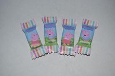 Balas Personalizadas com os personagens Peppa Pig e George <br> <br>Minimo 100 Balas <br> <br>As balas internas são balas de yogurte