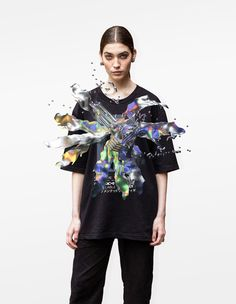 Augmented Reality t-shirt FFFACE x FINCH Augmented Reality, Women Wear, 3d Animation, T Shirt, Clothes, Design, Supreme T Shirt, Outfits, Tee Shirt