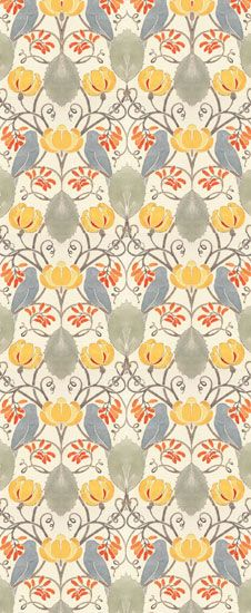 Voysey Wallpapers - Arts & Crafts Home (don't they look like little grey bunnies? - Annilee)