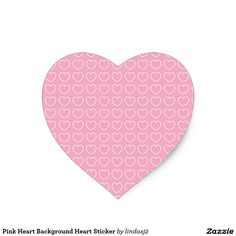 Pink Heart Background Heart Sticker