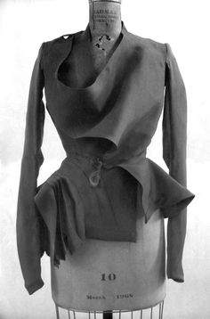 Rick Owens - deconstructed Blazer. It emphasizes on volume and proportion, using soft folds to accentuate the waist.