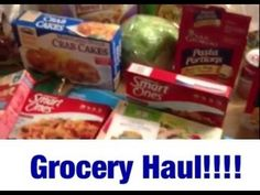 GROCERY HAUL!! Weight Watchers Points Plus & Low Calorie Food Haul -  Sh...