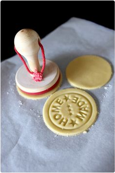 i need these - Homemade cookies with stamp