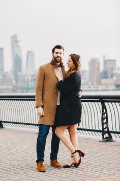 Nyc Wedding Photographer, Wedding Photography And Videography, Engagement Photography, Engagement Photos, Wedding Engagement, Hoboken Waterfront, Rustic Save The Dates, Nyc Skyline, Photo Sessions