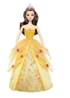 AmazonSmile: Disney Princess 2-In-1 Ballgown Surprise Belle Doll: Toys & Games