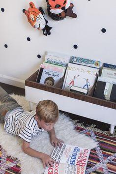 CURRENT FAVORITE KID BOOKS + DIY BOOK BIN | RAE ANN KELLY