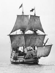 Replica of Mayflower Sailing Photographic Print at Art.com 42 X 56 $94