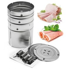 Cylinder Stainless Steel Press Ham Patty Maker Meat Poultry Seafood Cooking Helper Maker Household Cooking Tools Kitchenware
