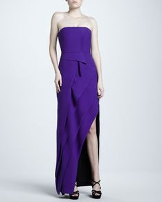 Strapless Tiered Crepe Gown by J. Mendel at Neiman Marcus.   This is what I want my girls in! its only $3,294... Im worth it right? You can totally wear it again.