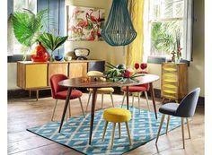 maisons du monde exotique couleurs salle manger