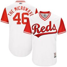 """Tim Adleman """"The Microwave"""" Cincinnati Reds Majestic 2017 Players Weekend Authentic Jersey - White"""