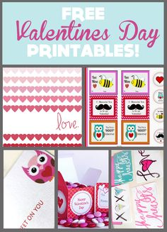 FREE Valentines Day Printables! howdoesshe.com