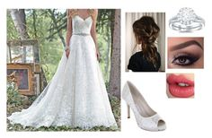 """""""Nellie's wedding look"""" by bmquiram ❤ liked on Polyvore featuring Maggie Sottero, Rainbow Club and Charlotte Tilbury"""