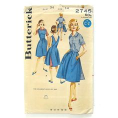 Vintage Sewing Pattern 60's Wrap-A-Round Skirt by SelvedgeShop