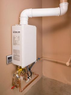 A conventional tank water heater heats a large amount of water all at the same time and then expends energy to keep it hot until it's needed. Tankless water heaters operate on a different system. They only use energy when you use hot water. Pex Plumbing, Water Plumbing, Tankless Hot Water Heater, Diy Home Repair, Water Heating, Home Repairs, Solar Panels, Home Remodeling, Basement Renovations
