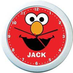 Elmo Personalized Clock by Identity Direct. $14.99. We will print your child's name on this colorful Elmo name clock that is guaranteed to brighten any room and make learning to tell the time fun!