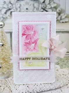 Happy Holidays Card by Melissa Phillips for Papertrey Ink (October 2015)