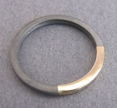 This unique wedding band is a rustic ring- sterling silver and 14k gold ring - mens or womens. Unique wedding ring made of 14k yellow gold and silver or black oxidized 925 sterling silver. Exceptional unisex band: mens wedding band or a ring for women. Carefully made by a jewelry #uniqueweddingrings