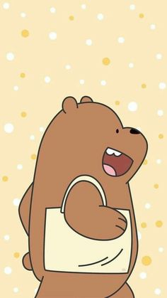 We Bare Bears Uploaded Naty On We Heart It with regard to We Bare Bears Grizz Wallpaper - All Cartoon Wallpapers Cute Disney Wallpaper, Kawaii Wallpaper, Cute Cartoon Wallpapers, Ice Bear We Bare Bears, We Bear, Tsum Tsum Wallpaper, We Bare Bears Wallpapers, Bear Wallpaper, Bear Cartoon