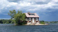 Tiny island house.