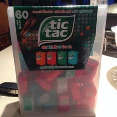 A dispenser for dispensing Tic Tac dispensers.