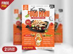 Logo Restaurant, Fast Food Restaurant, Restaurant Recipes, Menu Flyer, Large Pizza, Free Psd Flyer, American Restaurant, Food Menu, Breakfast