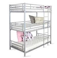 metal bedroom furniture metal triple bunk bed