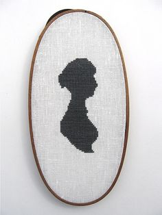 Jane Austen silhouette cross stitch
