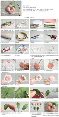 Garden DIY handmade embroidery tutorial this is an awesome site...
