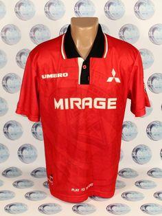 URAWA RED DIAMONDS 1996 1998 HOME FOOTBALL SOCCER SHIRT JERSEY MAGLIA JAPAN  #UMBRO #UrawaRedDiamonds