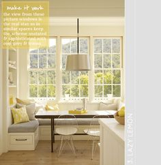 Lazy lemon breakfast nook (Ken Linsteadt Architects)