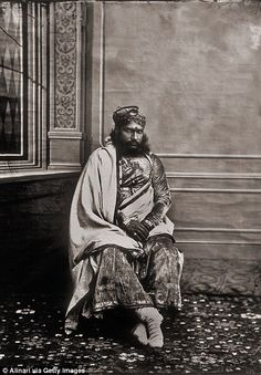 The Maharaja, an avid photographer, took portraits of noteworthy members of the royal cour...