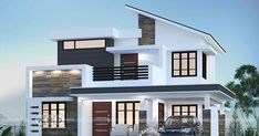 Top 7 Kerala Houses Design by Dream Homes – Amazing Architecture Magazine Single Floor House Design, Two Story House Design, Modern Small House Design, Village House Design, Kerala House Design, Bungalow House Design, Contemporary House Plans, Modern House Plans, Modern Contemporary