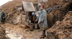"""French soldiers in a trench during the World War One. """"Crêtes des Eparges""""…"""