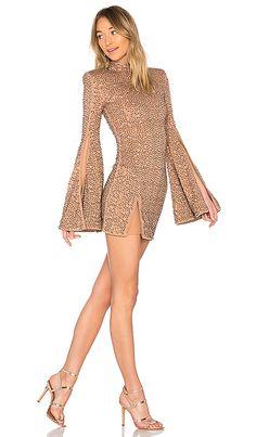 50bb0f0558c x REVOLVE Mr. Gibson Mini Dress in Nude Ladies Dress Design