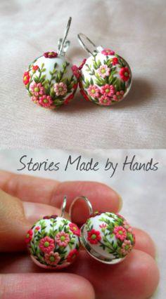 sweet handmade floral earrings