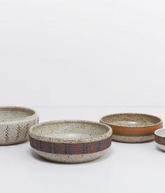 Ceramic bowls by Los Angeles artists Kat and Roger Lee.