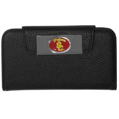 """Checkout our #LicensedGear products FREE SHIPPING + 10% OFF Coupon Code """"Official"""" USC Trojans iPhone 5/5S Wallet Case - Officially licensed College product Fits iPhone 5/5S phones Black case with magnetic closure, will not damage cards or phone Perfect simple way to combine your phone and wallet USC Trojans metal logo - Price: $16.00. Buy now at https://officiallylicensedgear.com/usc-trojans-iphone-5-5s-wallet-case-cwci53"""