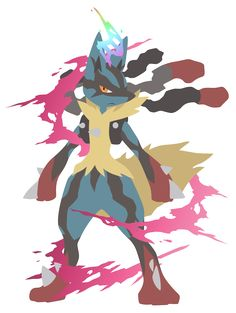 Mega Lucario - Pokemon Vector by firedragonmatty