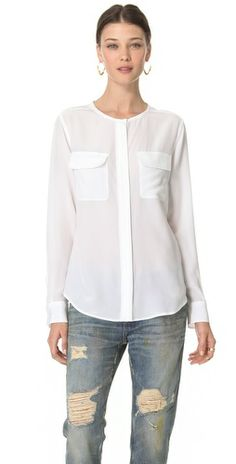 Equipment Lynn Crew Neck Blouse