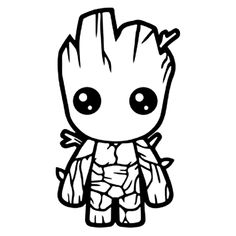 Baby Groot Coloring Page . 20 Unique Baby Groot Coloring Page . Baby Groot Drawing at Getdrawings Avengers Coloring Pages, Marvel Coloring, Superhero Coloring Pages, Art Vinyl, Vinyl Decals, Decals For Cars, Wall Stickers, Cricut Vinyl, Bumper Stickers