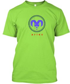 Aries Zodiac Lime T-Shirt Front
