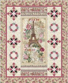 Paris Rendevous-Rose Quilt