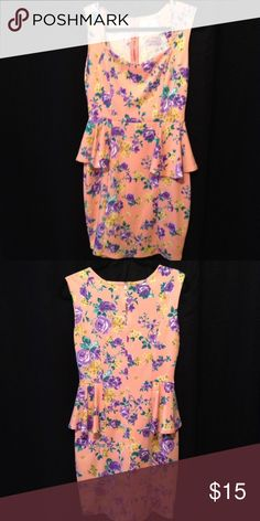 Tea N Rose Dress Casual peplum dress, in gorgeous color. Price reflect condition and brand, feel free to ask any question before offer or purchase. Tea n rose Dresses
