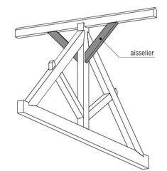 la charpente en bois ferme entrait retrouss toit pinterest. Black Bedroom Furniture Sets. Home Design Ideas