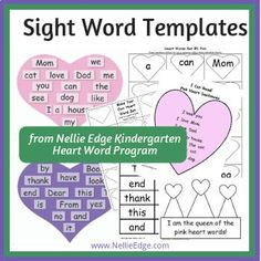 Motivate students to practice—& quickly learn to high-frequency sight words. Kindergarten Sight Word templates are in sets & provide Intensive crystal-clear, achievable learning targets for optimum learning with methods simple involvement Learning Targets, Learning To Write, Student Learning, Letter To Parents, Parent Letters, Word Program, Sight Words Printables, Environmental Print, Word Templates