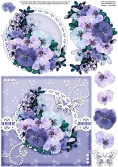 6x6 A Touch of Elegance Spring Flowers and Butterfly quick card front with 3D…
