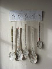 Our Fragile Dreams (spoons on rack) by cathy cullis